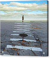 Never Ending Crosswalk Acrylic Print by Jill Battaglia