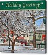 New England Christmas Acrylic Print by Joann Vitali