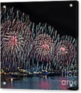New York City Celebrates The 4th Acrylic Print by Susan Candelario