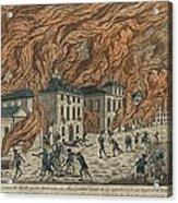New York City Fire Of September 21-22 Acrylic Print by Everett