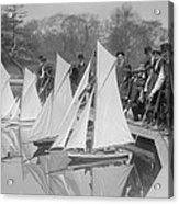 New York City, Start Of Toy Yacht Race Acrylic Print by Everett