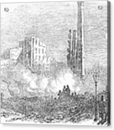 New York: Fire, 1853 Acrylic Print by Granger