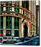 New York Nypd Acrylic Print by Radu Aldea