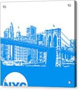 New York Poster Acrylic Print by Naxart Studio