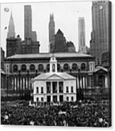 New Yorks Observance Of George Acrylic Print by Everett