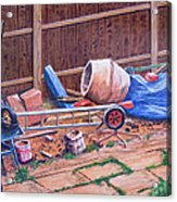 Next Doors Back Yard Acrylic Print by Aleck Rich Seddon