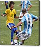 Neymar Doing His Thing IIi Acrylic Print by Lee Dos Santos