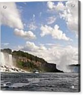 Niagara Falls View From The Maid Of The Mist Acrylic Print by Mark J Seefeldt