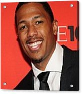 Nick Cannon At Arrivals For Time 100 Acrylic Print by Everett