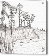 North Shore Memory... - Sketch Acrylic Print by Robert Meszaros