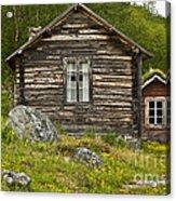 Norwegian Timber House Acrylic Print by Heiko Koehrer-Wagner