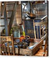 Nostalgia Country Kitchen Acrylic Print by Bob Christopher
