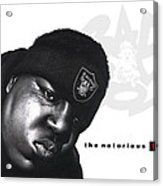 Notorious B.i.g Acrylic Print by Lee Appleby