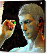 Nude Face Acrylic Print by Ilias Athanasopoulos