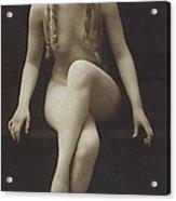 Nude Girl 1915 Acrylic Print by Stefan Kuhn
