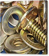 Nuts Bolts And Washers Acrylic Print by Shannon Fagan