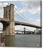 Ny Bridges 1 Acrylic Print by Art Ferrier