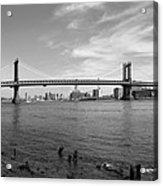 Nyc Manhattan Bridge Acrylic Print by Mike McGlothlen