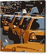Nyc Traffic Color 6 Acrylic Print by Scott Kelley