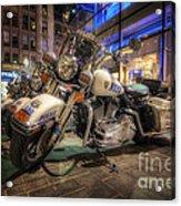 Nypd Bikes Acrylic Print by Yhun Suarez