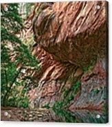Oak Creek Canyon Walls Acrylic Print by Dave Dilli
