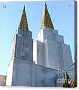 Oakland California Temple . The Church Of Jesus Christ Of Latter-day Saints . 7d11360 Acrylic Print by Wingsdomain Art and Photography