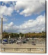 Obelisque Place De La Concorde. Paris. France Acrylic Print by Bernard Jaubert