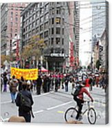 Occupy Sf . 7d9733 Acrylic Print by Wingsdomain Art and Photography