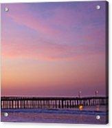 Ocean Pier At Dawn Acrylic Print by David Buffington
