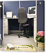 Office Cubicle Acrylic Print by Andersen Ross