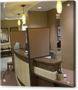 Office Reception Area Acrylic Print by Andersen Ross