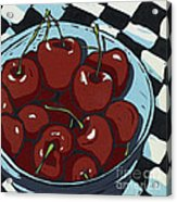 Oh So Sweet - Linocut Print Acrylic Print by Annie Laurie