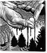 Oil Pollution Acrylic Print by Bill Sanderson