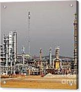 Oil Refinery Acrylic Print by Carlos Caetano