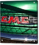Old American Gmc Truck . 7d10666 Acrylic Print by Wingsdomain Art and Photography