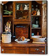 Old Bakers Cabinet Acrylic Print by Carmen Del Valle