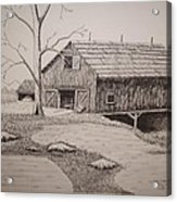 Old Barn Acrylic Print by William Deering