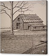 Old Barn2 Acrylic Print by William Deering
