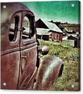 Old Car And Ghost Town Acrylic Print by Jill Battaglia
