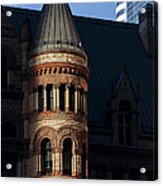 Old City Hall Turret Acrylic Print by Matt  Trimble