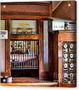 Old Fashion Post Office Acrylic Print by Paul Ward