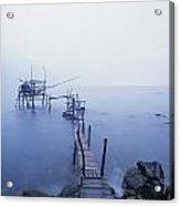 Old Fishing Platform At Dusk Acrylic Print by Axiom Photographic