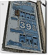 Old Full Service Gas Station Sign Acrylic Print by Samuel Sheats
