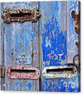 Old Mailboxes Acrylic Print by Carlos Caetano
