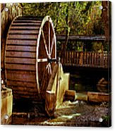 Old Mill Park Wheel Acrylic Print by Robert Bales