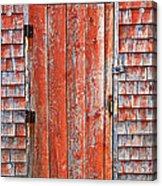 Old Orange Door  Acrylic Print by Garry Gay