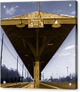 Old Railway Platform Acrylic Print by Gordon Wood