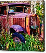 Old Rusting Truck Acrylic Print by Garry Gay