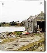 Old Shed By The Sea Acrylic Print by Alan MacFarlane