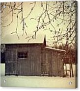 Old Shed In Wintertime Acrylic Print by Sandra Cunningham